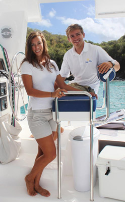 What role does the crew play in a crewed yacht charter vacation?