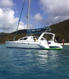 Sailing Catamaran Free Ingwe, St Thomas or Tortola