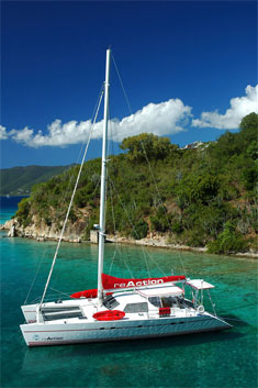 Catamaran Reaction, Virgin Islands
