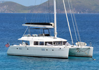 Blue Moon sailing Crewed Lagoon 560 Charter
