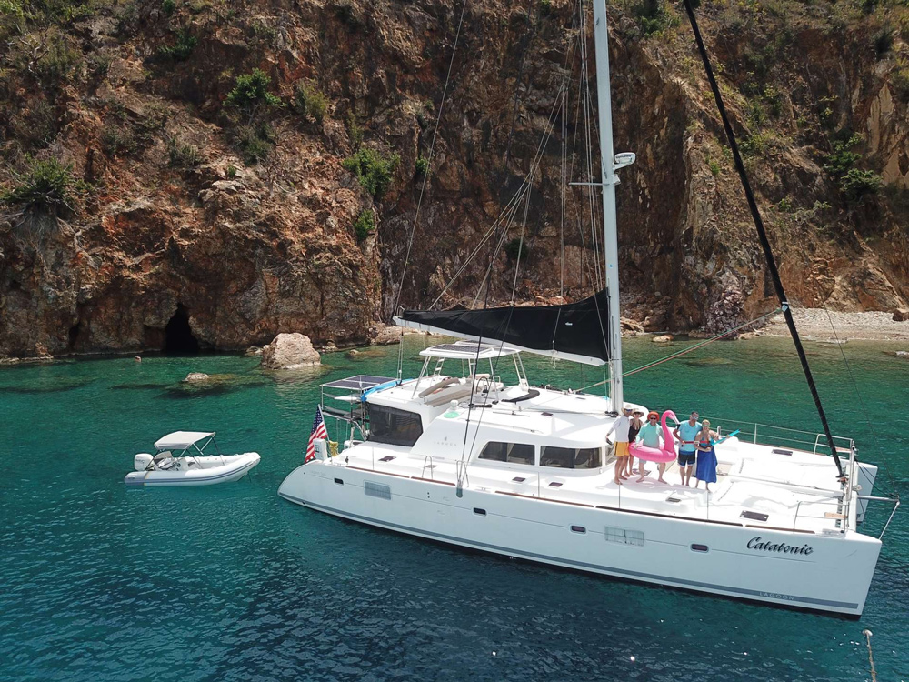 Catatonic Crewed Catamaran Charter