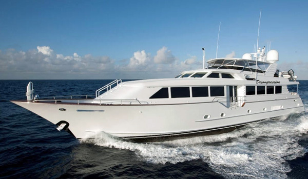Decompression Crewed Power Yacht Charter
