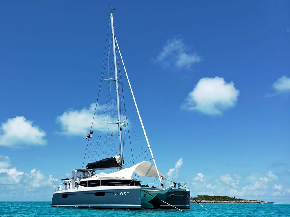 Ghost Crewed Catamaran Charter