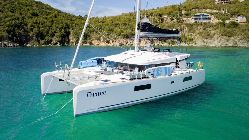 Grace Crewed Catamaran Charter