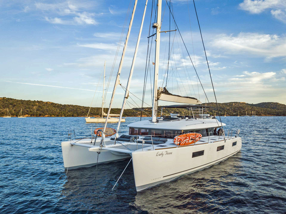 Lady Fiona Crewed Catamaran Charter