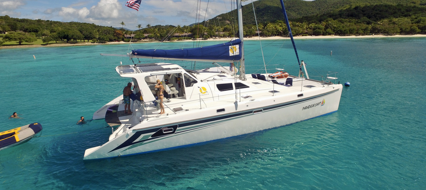 Paradigm Shift Crewed Catamaran Charter