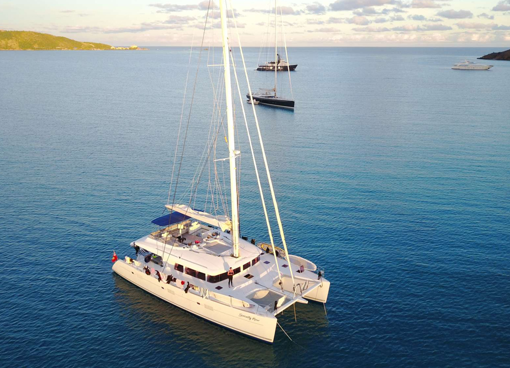 Serenity Now Crewed Catamaran Charter