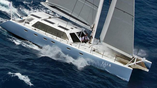 Slim Crewed Catamaran Charter