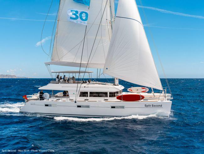 Split second crewed catamaran charter british virgin for By the cabin catamaran charters