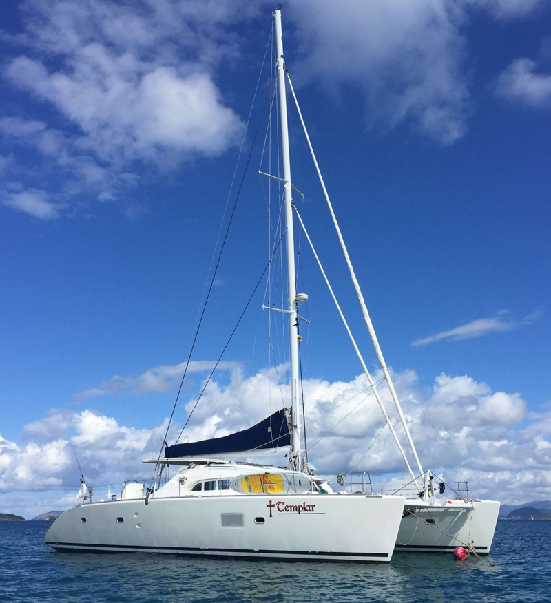 Templar Crewed Catamaran Charter