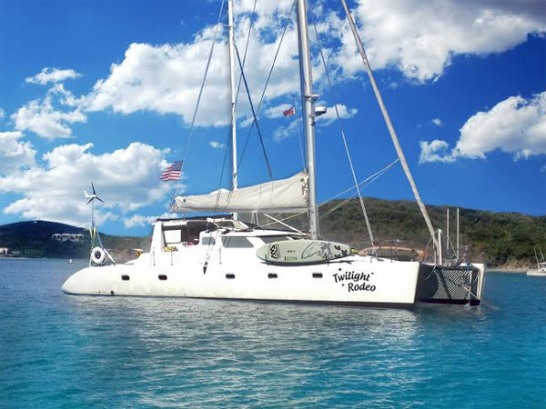 Twilight Rodeo Crewed Catamaran Charter