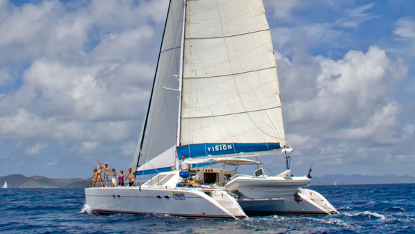 Vision Crewed Catamaran Charter