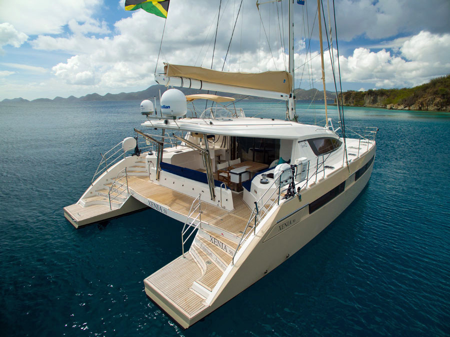 Xenia 50 Crewed Catamaran Charter Virgin Islands